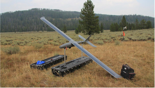 Drone used on wildfire in Yellowstone's