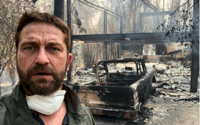 Gerard Butler lost half of his home after it was torched by the wildfire.