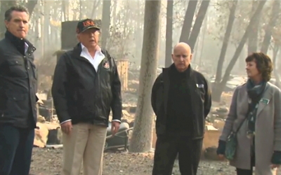 President Trump surveys wildfire devastation in Paradise and Malibu