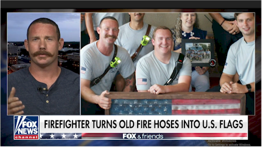 Florida firefighter turns old fire hoses into American flags